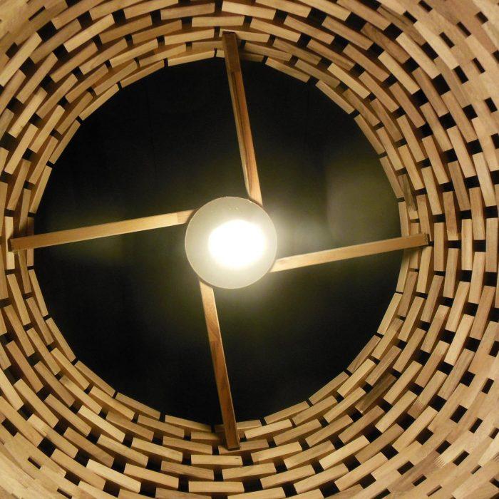 Notenhouten Lamp